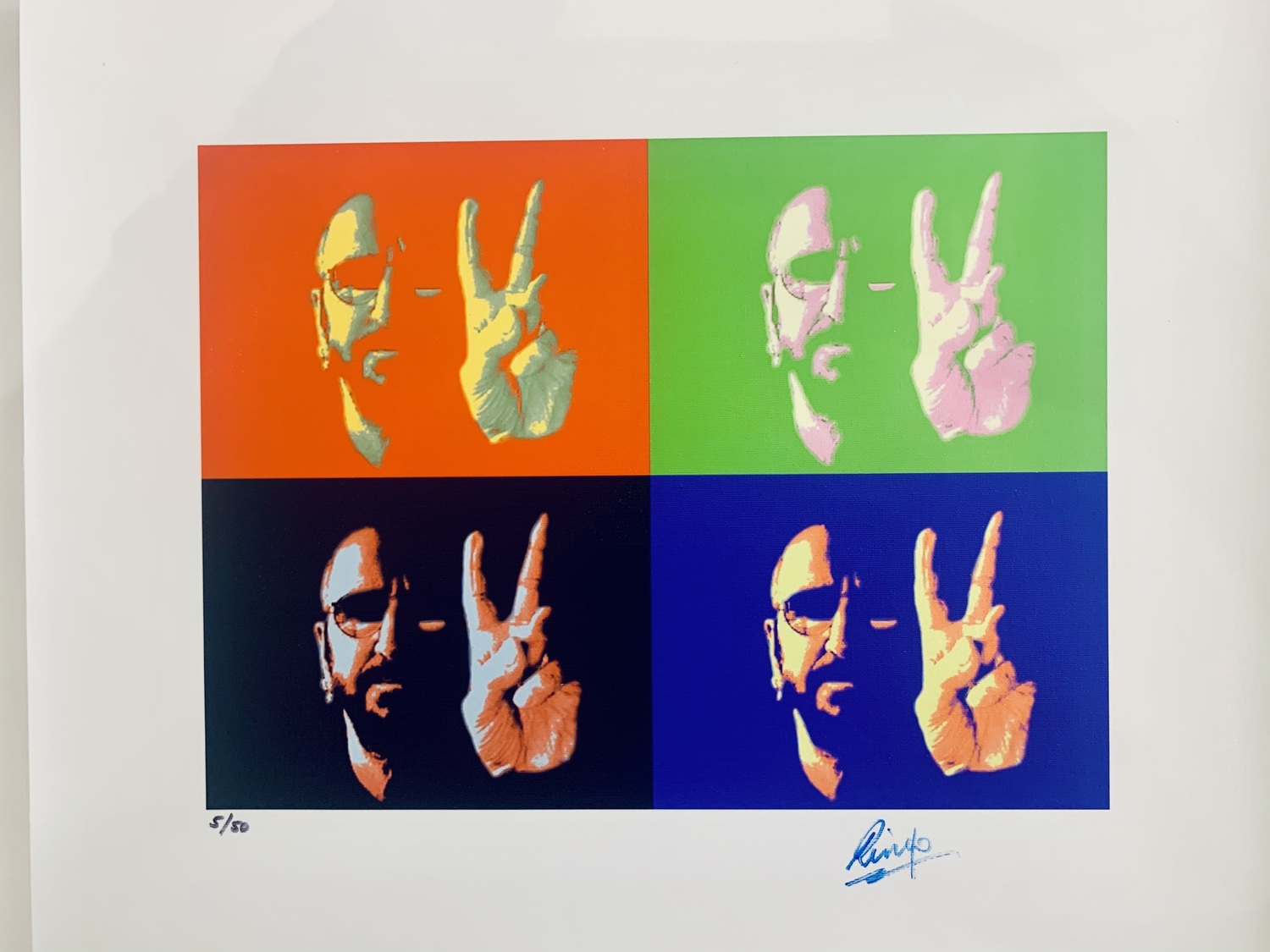 Peace & Love - Limited Art Print by Ringo Starr