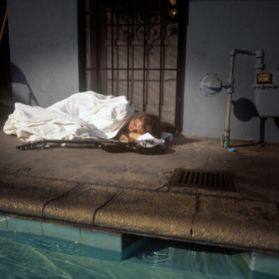 Kurt Cobain of Nirvana Nevermind Sleeping Photo
