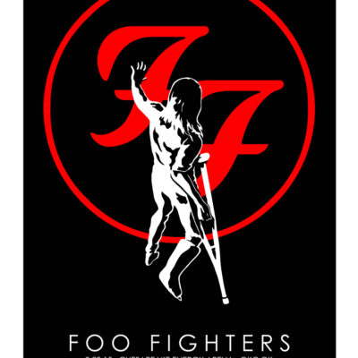 Foo Fighters - 2015 Chesapeake Energy Arena OKC.OK Limited Edition Concert Poster - by Jermaine Rogers
