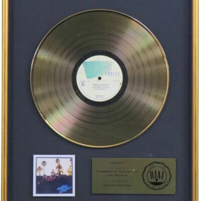 Hotel California RIAA Gold Award Presented To The Eagles