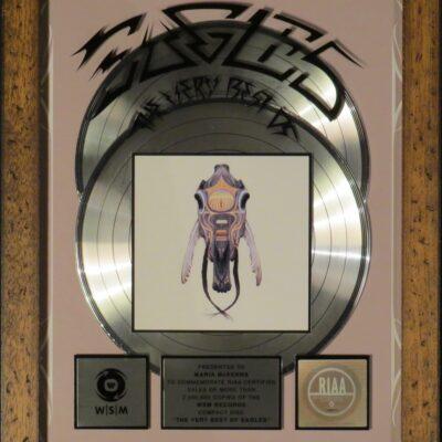 The very best of Eagles RIAA Platin Award