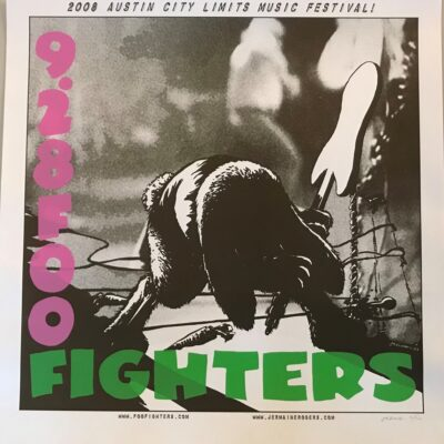 Foo Fighters - 2008 Austin City Limits Music Festival Limited Art Print - by Artist Jermaine Rogers